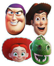 TOY STORY CHARACTER CARD FACE MASKS - 4 CHOICES & MULTIPACK - FREE SHIPPING!