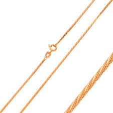 Men 1mm 925 Sterling Silver Snake Chain Necklace Rose Gold Plated made in italy