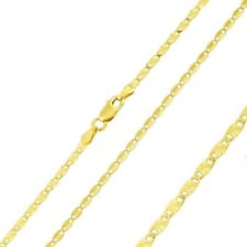 Men 2.5mm 925 Sterling Silver Confetti Chain Necklace Gold Plated made in italy