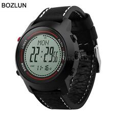 Mens Boys Compass Outdoor Sport Wrist Watch Altimeter Barometer Thermometer D9T4