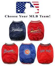 MLB Baseball Dugout Jacket for Dogs * PICK YOUR TEAM * Sports Fan Pet Puppy Coat