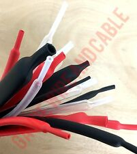 Adhesive Heat Shrink Tubing Red, Black or Clear Create Assortment Various Sizes