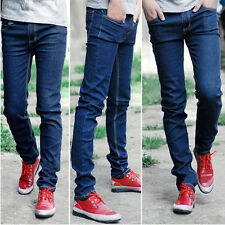 New Fashion Mens Skinny Straight Leg Pants Slim Fit Casual Jeans Slacks Trousers