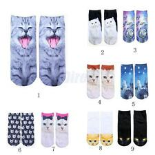 Lot Women's Pair of Soft 3D Cat Animal Socks Warm 3D Printed Ankle Socks