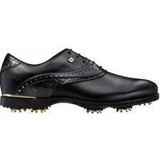 New FootJoy Icon Black Wide Golf Shoes Black Croc 52036 Previous Season Style