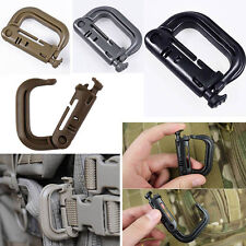 EDC Keychain Carabiner Molle Tactical Backpack Shackle Snap D-Ring Clip MDUS