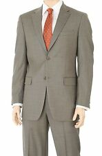 Jones NY Classic Fit Brown Stepweave Two Button Wool Suit
