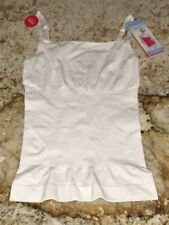 Red Hot SPANX Sleek Slimmers WHITE Camisole Tank Top NEW Womens Sz S   Plus 1X