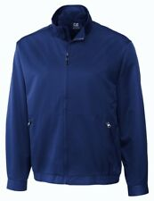 NEW Mens XL 2XL CUTTER BUCK CB WeatherTec Whidbey Blue Golf Windbreaker Jacket