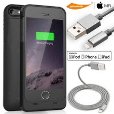 MFI Protective External Battery Pack Charger Case iPhone 5 SE USB Charging Cable