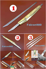 3kinds Leather Craft Brass Handle Flat Cut Cutter Knife Blade Indispensable Tool