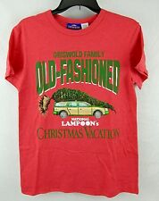 Christmas Vacation Mens T-Shirt Red National Lampoon Griswold Old Fashioned S M