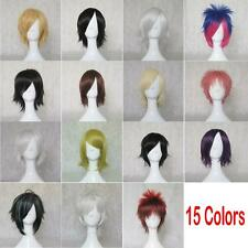 Unisex Anime Fashion Short Wig Cosplay Party Straight Up Hair Cosplay Full Wig