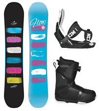 2016 FLOW SILHOUETTE 140 Womens Snowboard+FLOW Binding+Flow BOA Boots NEW