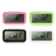 LED Digital Alarm Clock Bedroom Clock Temperature Time Calendar Display Snooze