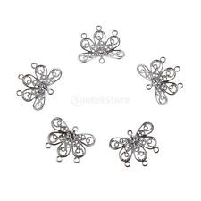100pcs Brass Petal Flower Bead Caps for Jewelry Making Accessories/Decorations