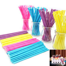 100Pcs10cm Paper Lollipop Lolly Candy Pop Sucker Sticks Chocolate Cake Cookie FT