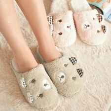 Cute Women Antiskid Indoor Home Men Slippers Winter Warm Bear Plush Soft Animal