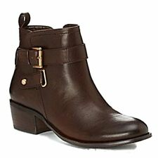 Arturo Chiang Women's Bryson Dark Chocolate Leather Ankle Boot