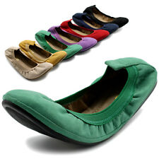 Ollio Women's Shoes Collar Pull Tabs Comforts Suede Ballet Flats