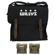 Willys Jeep Freedom Stars Military Army Heavyweight Canvas Medic Shoulder Bag