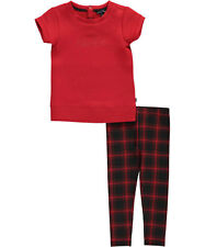 "Nautica Little Girls' Toddler ""Plaid Shift"" 2-Piece Outfit (Sizes 2T - 4T)"