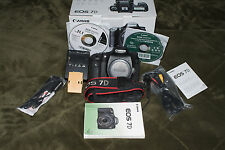 Canon EOS 7D 18.0 MP Digital SLR Camera - Black (Body Only) With Vertical Grip