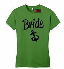 Bride Juniors T Shirt Cute Wedding Gift Anchor Tee Bachelorette Party Petite SZ