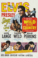 """""""WILD IN THE COUNTRY"""" ELVIS PRESLEY 1961 Retro Movie Poster A1A2A3A4Sizes"""