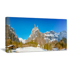 Sixt Fer a Cheval Panoramic View Landscape Photographic Print on Wrapped Canvas