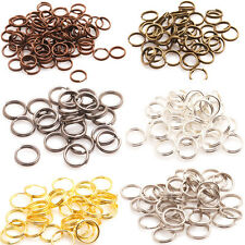 Wholesale!1000pcs 4,5,6,7,8,10mm Metal Double Split Jump Rings Silver/Gold Plt