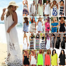 2016 Womens Celeb Summer Shorts Beach Sun Dress Sexy Mini Playsuit Maxi Jumpsuit