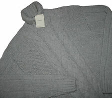 Gant Lambswool- Cashmere Braid pattern Roll neck Cable Pullover Sz. XXL & XXXL