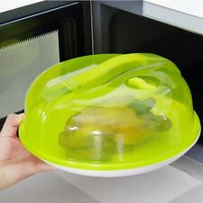 Plastic Microwave Food Dish Cover Clear Steam Vent Splatter Lid Kitchen Tool
