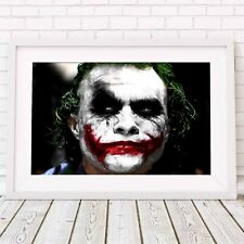 THE JOKER - DC Heath Ledger Poster Picture Print Sizes A5 to A0 **FREE DELIVERY*