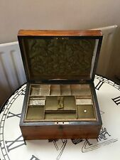 Beautiful Antique 19th Century  Inlaid With Mix Wood Jewellery /  Sewing  Box