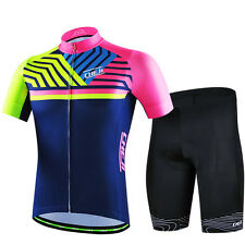 High Quality CHEJI Mens Cycling Jersey & Shorts Set Reflective Cycling Bike Wear
