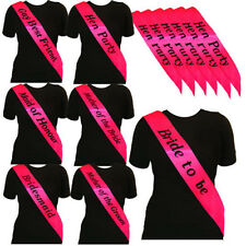 Hen Night Sash Party Sashes Do Accessories Bride To Be Out Girls Deluxe Bling