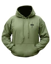 Royal Marines Commando Regimental Logo Double Printed  Hooded Top Hoodie Olive