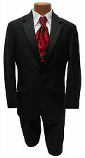 Mens Size 40L Black  Ralph Lauren Newport Jacket & Pants Wedding Tuxedo