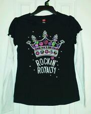 NWT~HANES~ ROCKIN ROYALTY~ LONG SLEEVE GRAPHIC TEE SZ M7/8, L10/12