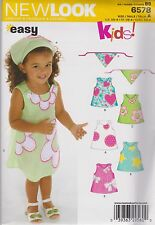 From Uk Sewing pattern Girl's Dress 1/2 - 4 yrs  #6578