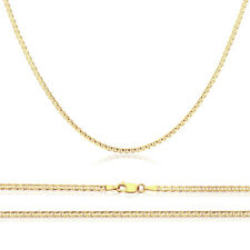 2.5mm 14K Yellow Gold Chain Flat Mariner Link Chain Necklace / Gift box