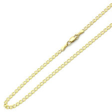 3mm 14K Two Tone Gold Chain Mariner Link Chain Necklace / Gift box Ship from USA
