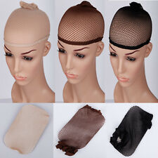 wholesale 3 pcs colors stretchable elastic hair nets snood wig cap cool mesh hgs