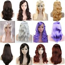 US Fast Ship Blonde Black Red Pink Wig Straight Curly Wave Women Lady Full Wigs