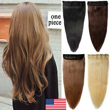 100% Human Hair One Piece Remy Human Hair Extensions Clip In 3/4 Full Head P695