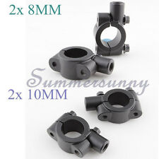 """2 x 8MM 10MM MIRRORS CLAMP ON MOUNT ADAPTER FIT 7/8"""" HANDLEBAR DIRT SPORTS BIKES"""