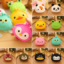 Women's Cute Cartoon Animal Silicone Jelly Coin Pouch Girls Purse Wallet Clutch