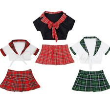 Sexy Women School Girl Dress Uniform Plaid Skirt Fancy Dress Cosplay Costume New